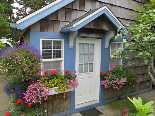 The perfect little cottage was made out of an old garage.