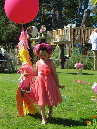 The flower girl was the daughter of Pelicano Restaurant's Jeff and Shelley