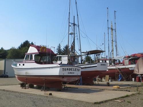 in the boatyard