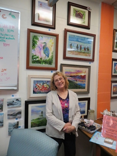 One of the artists, Cynthia Pride Moore.