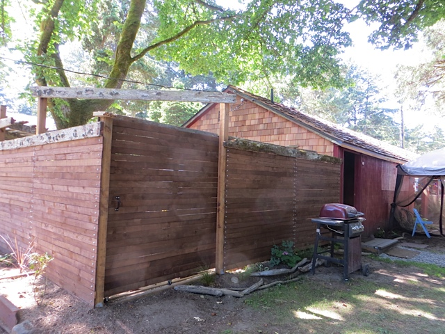 new enclosure about the campground shower building