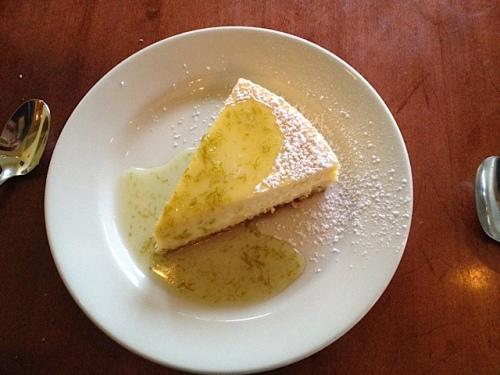 cheesecake (mango? something fruity and delicious)
