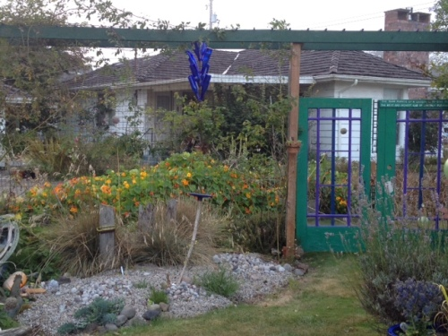 later:  Allan rehung them on the west arbour