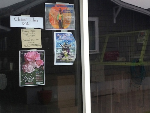 But we drove by the Pink Poppy door to admire the poster.
