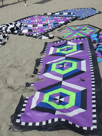 quilt kites on the ground