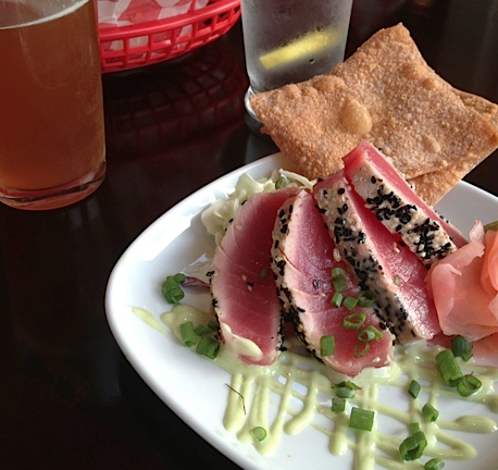 Even though it was fish taco Thursday, I had to have the ahi tuna