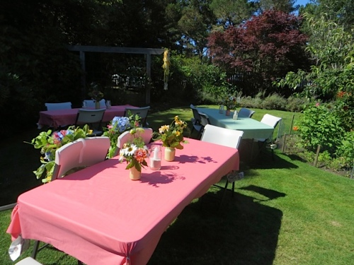 the bride and groom's chairs