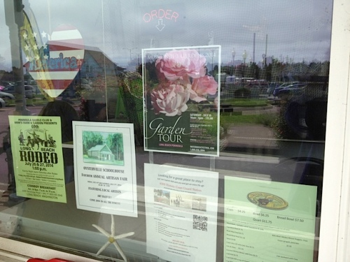 The garden tour poster was in the window...