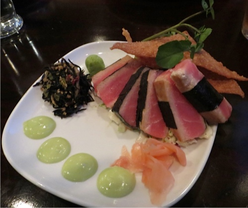 I, of course, had the ahi tuna.