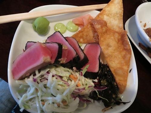 I can't seem to break away from ordering the ahi tuna.