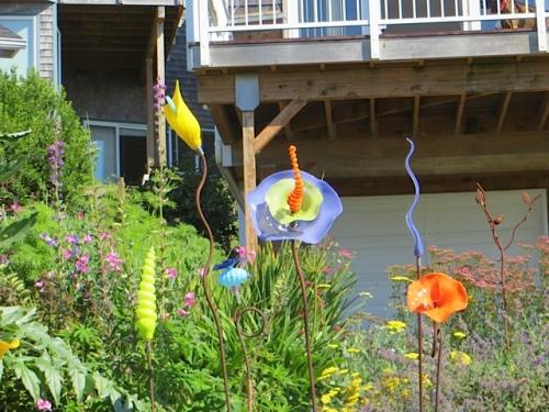with garden art