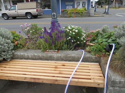 The city has replaced the bench that disappeared during Rod Run last weekend.
