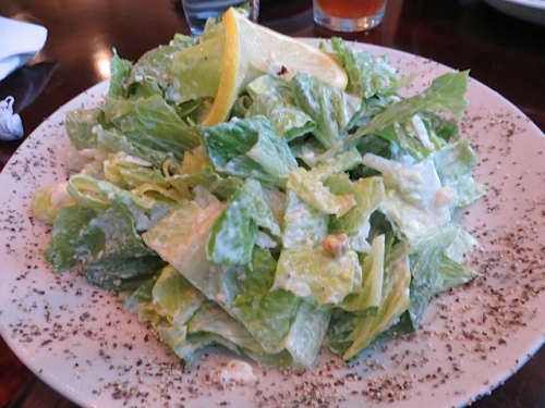 I had to have the Caesar salad after seeing it on Steve and John's dinner plates last week.