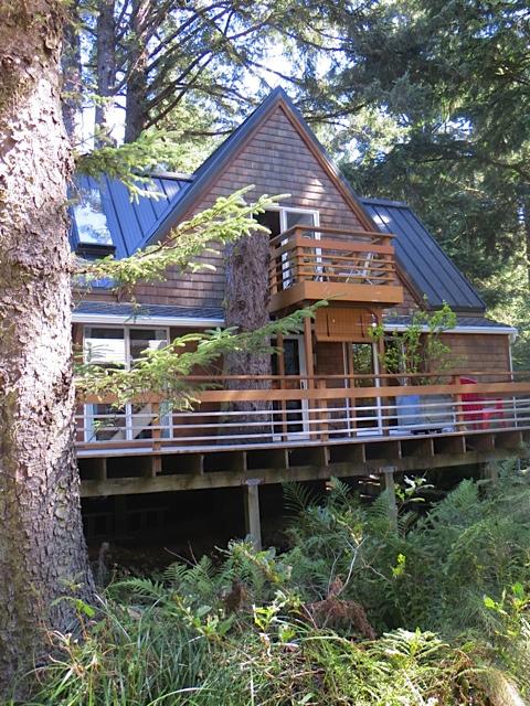 view of Chinook house next door