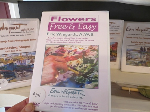 Eric offers a DVD for sale on how to paint flowers.