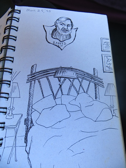 Back in the antelope head days, a journal writer was inspired to draw this.