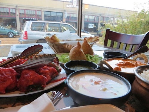 We chose to go on to dinner at Himani Indian Cuisine (again).