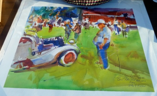 A painting by our garden client Eric Wiegardt was one of the first place prizes.
