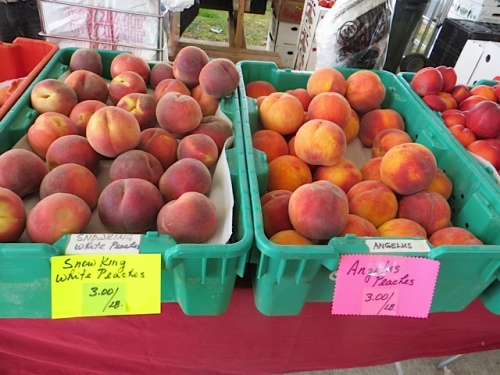 bought some peaches from De Asis produce...