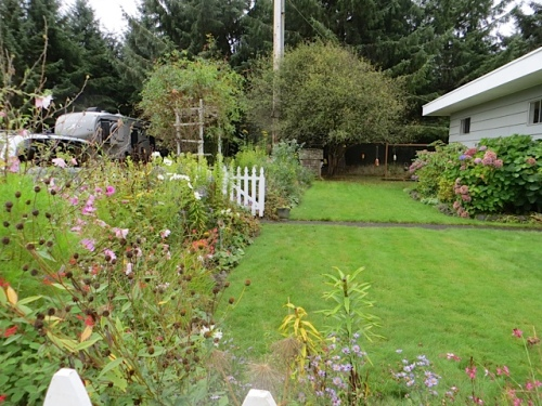 picket fence garden (east side of house) looking autumnal