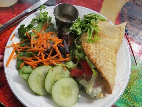 I had a Greek veggie pita...delicious!