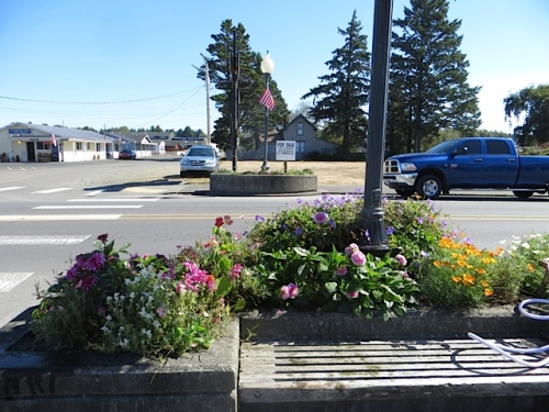 one of my favourite planters...and across from it, one that we plan to redo this fall.