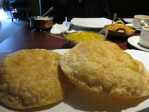Poori, my favourite puffy Indian bread, with potatoes