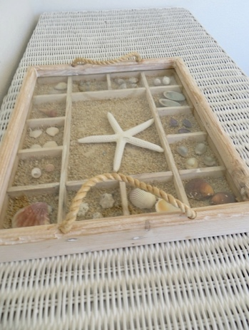 shell tray in bedroom