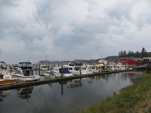 and the marina