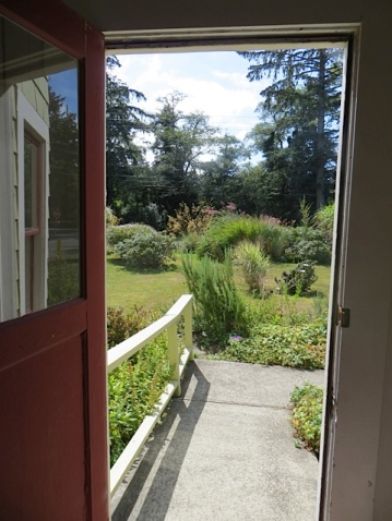 the view from the front door, looking south