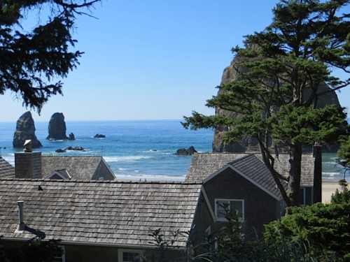 the first view of Haystack Rock