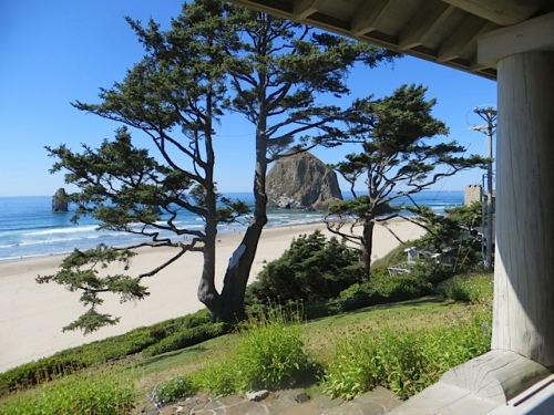 view to Haystack Rock