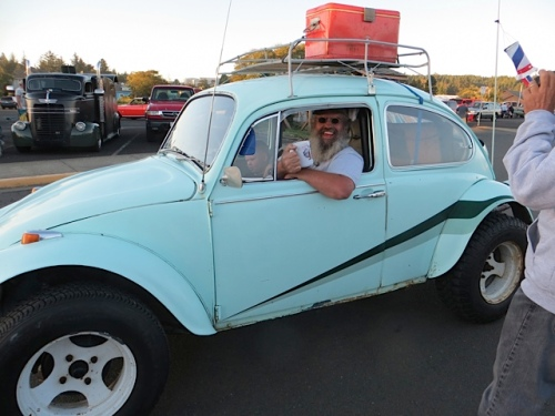 Another VW driver was also ecstatic...
