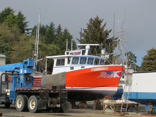 A bright, shiny new boat had come in.