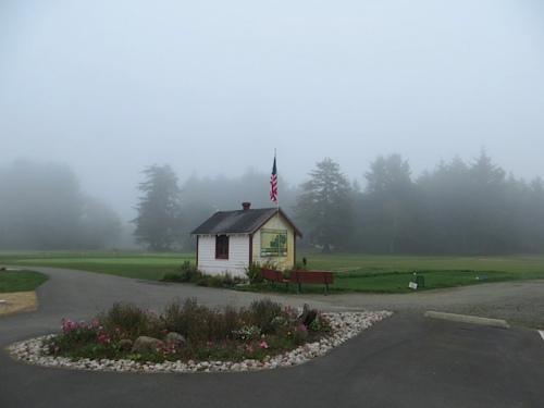 fog over the Peninsula Golf Course
