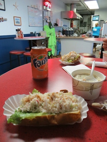 crab rolls and chowder