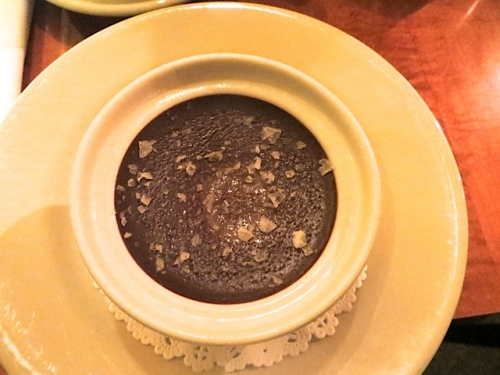 chocolate pot de creme with Maldon sea salt