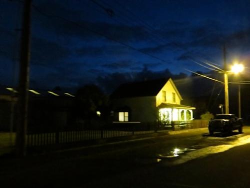walking home along Lake Street
