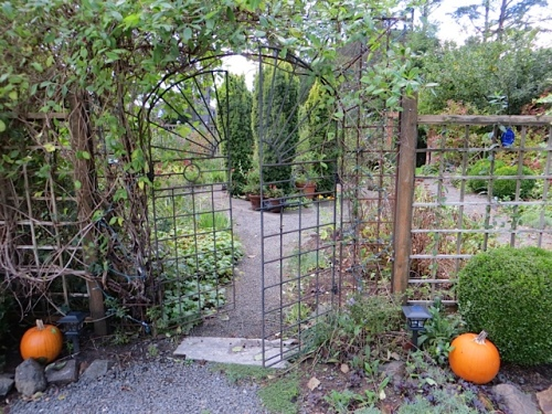east gate of fenced garden