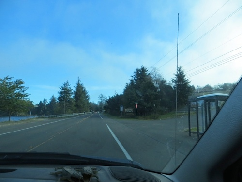 When we got to Ilwaco's Black Lake, the sky became blue again.