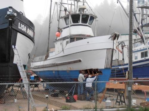 in the boatyard:  Allan's photo