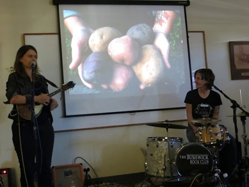 accompanied by a song about potatoes