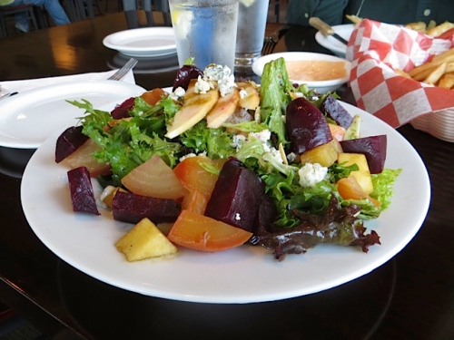 Roasted Beet and Apple Salad with Rogue River Blue Cheese