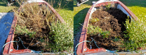garden boat before and after (Allan's photos)