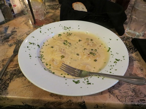 The crab and cheese ravioli