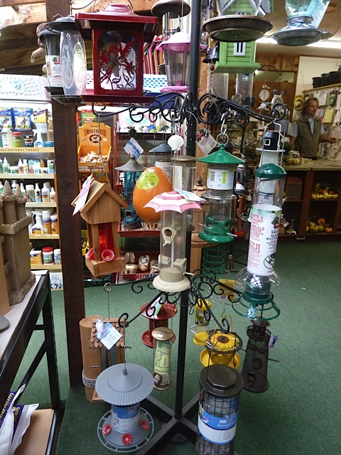 Just some of the feeders on offer.