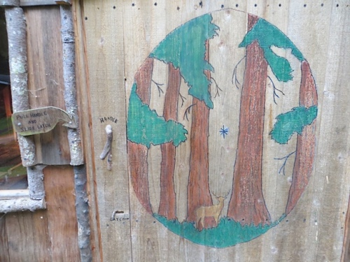 the door to the hobbit shop