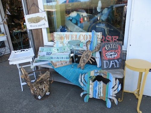 an attractive display outside of The Wooden Horse gift shop.