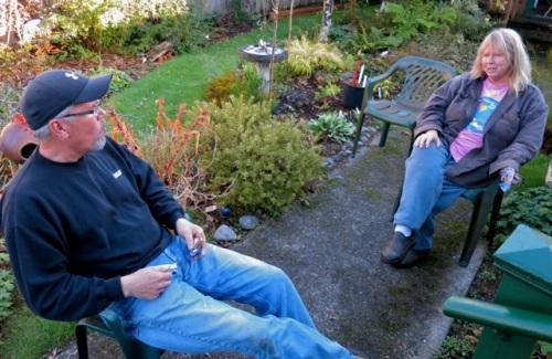 Strange Landscaping Ed and me