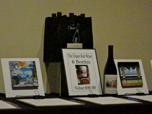 Depot Red wine in the silent auction